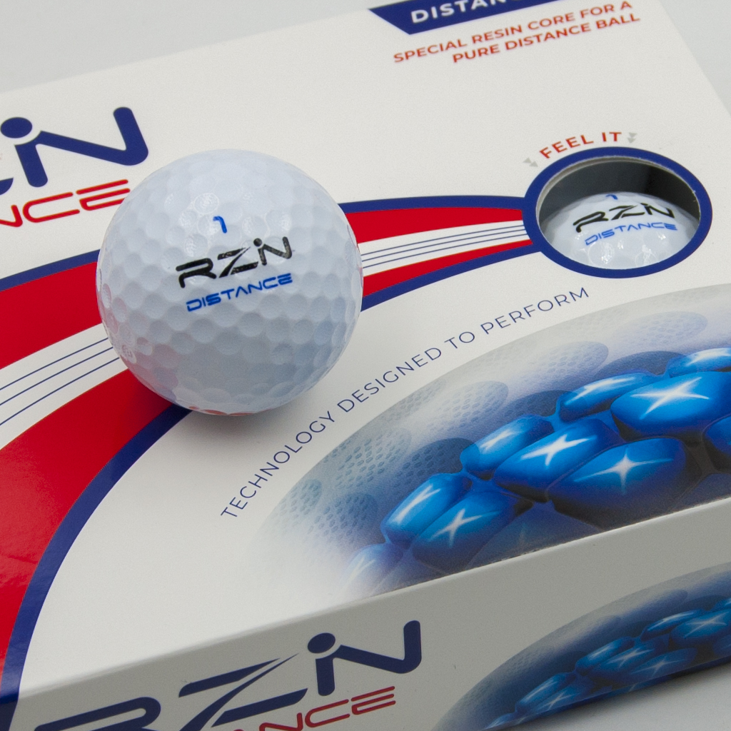 RZN DISTANCE Golf Ball front