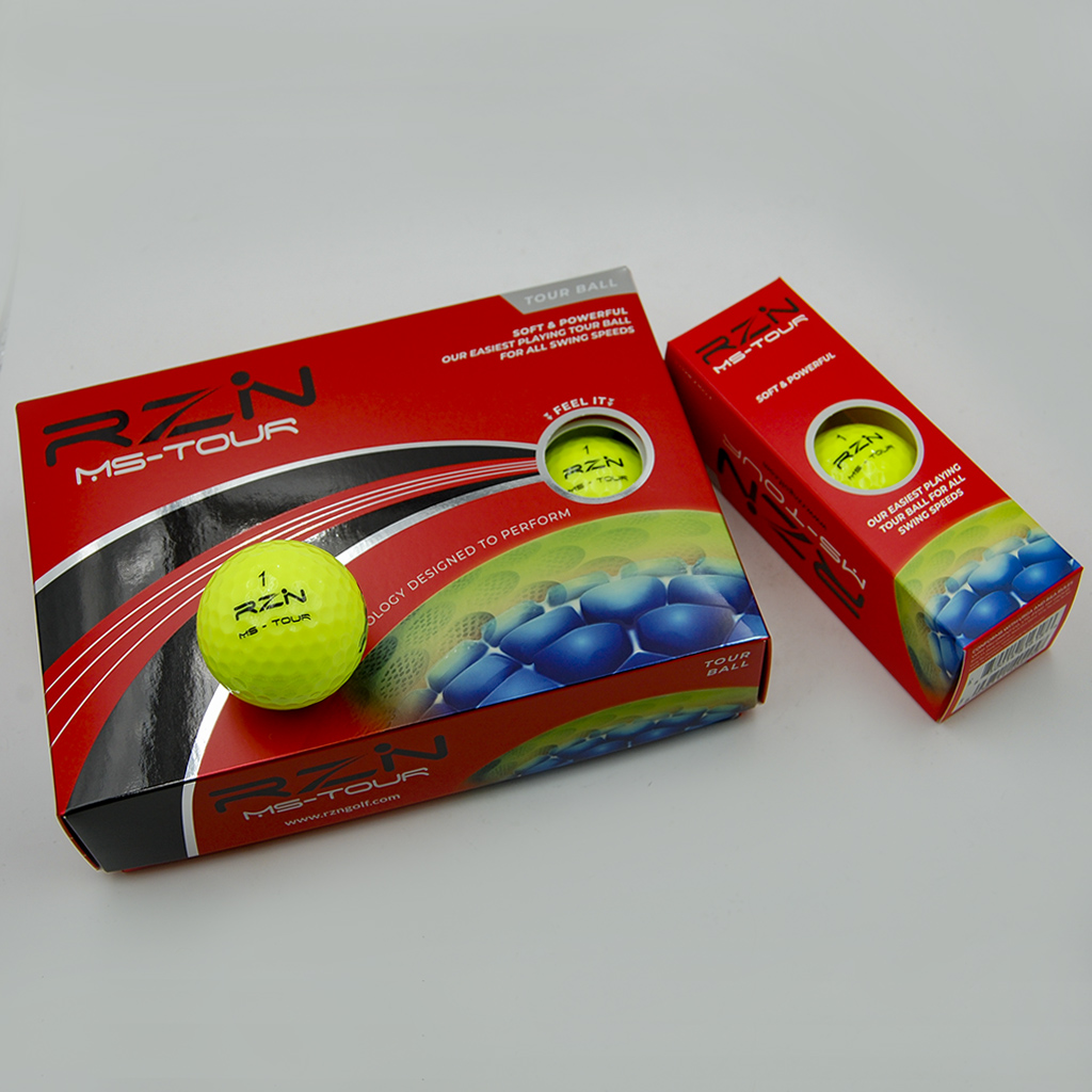 Yellow professional golf balls: RZN Ms-Tour