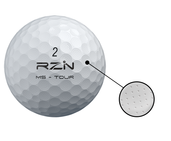 MS-TOUR Golf Ball micro dimples