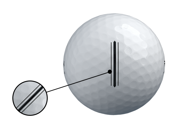 MS-TOUR Golf Ball bigger alignment