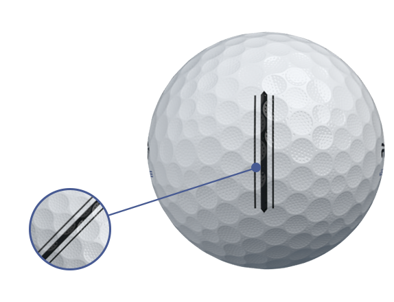 RZN DISTANCE Golf Ball bigger alignment