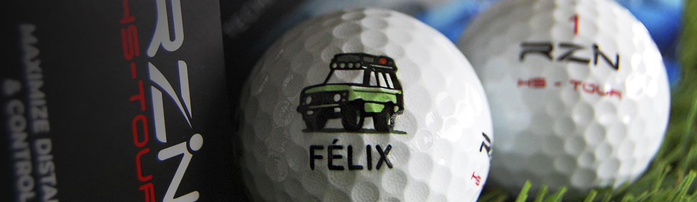 Custom golf balls, bolas de golf personalizadas