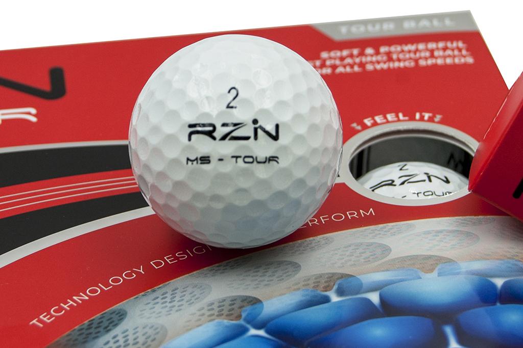 RZN MS-Tour golf ball, RZN Black and RZN Platinum Technology