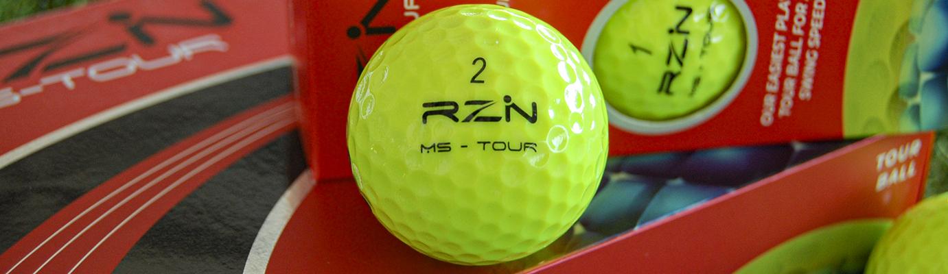 rzn golf balls optic yellow